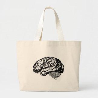 cérebro humano bolsa tote grande