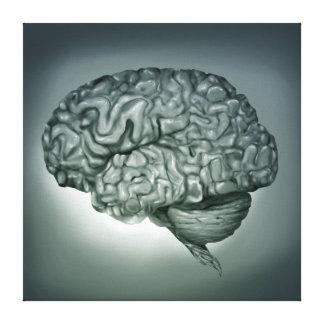 Cérebro humano - canvas de arte anatômicas surreai impressão de canvas envolvida