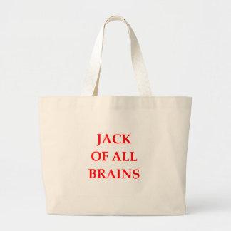 cérebros bolsa tote grande