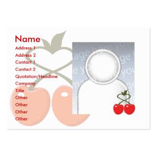 Cerejas - carnudos cartão de visita grande