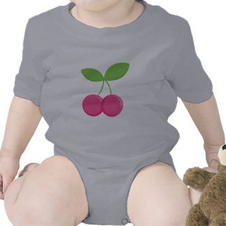 Cerejas do rosa do presente do bebê da cereja mode macacãozinho para bebês