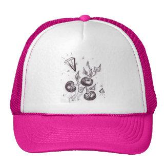 Cerejas e chapéu de basebol dos diamantes bonés