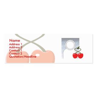 Cerejas - magros cartão de visita skinny