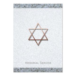 Cerimonia comemorativa de cobre da pedra 1 da convite 12.7 x 17.78cm