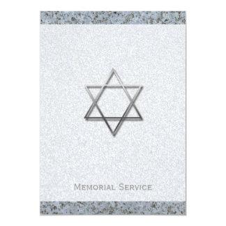 Cerimonia comemorativa de prata da pedra 1 da convite 12.7 x 17.78cm