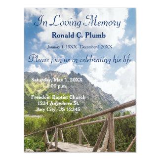 Cerimonia comemorativa do funeral | da ponte | convite 10.79 x 13.97cm
