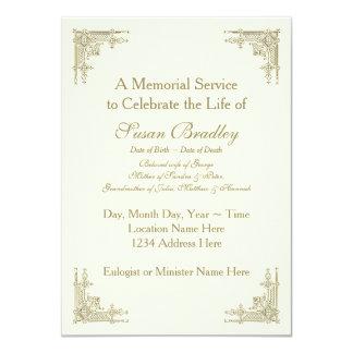 Cerimonia comemorativa elegante do ornamento 1 do convite 11.30 x 15.87cm