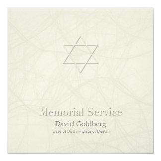 Cerimonia comemorativa gravada sagacidade do convite quadrado 13.35 x 13.35cm