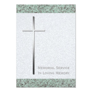 Cerimonia comemorativa transversal da pedra 2 do convite 12.7 x 17.78cm