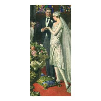 Cerimónia de casamento da igreja do vintage; panfleto informativo personalizado