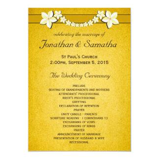 Cerimónia & partido rústicos do programa do convite 12.7 x 17.78cm