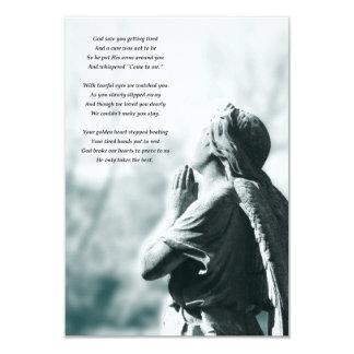 cerimonias comemorativas da oração do anjo convite 8.89 x 12.7cm