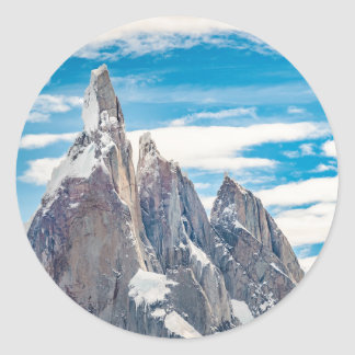 Cerro Torre - Parque Nacional Los Glaciares Adesivo Redondo