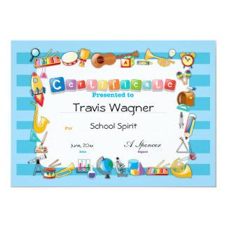 Certificado da escola convite 12.7 x 17.78cm