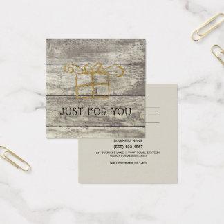 Certificado de madeira rústico do cartão de