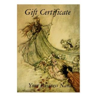 Certificado de presente ausente das fadas - Arthur Cartoes De Visita