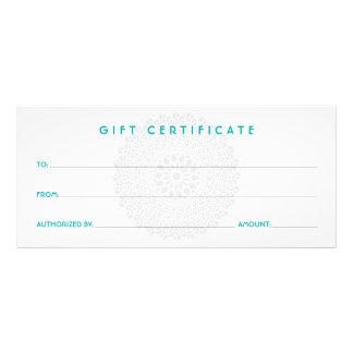 Certificado de presente azul da impressão divina planfetos informativos coloridos