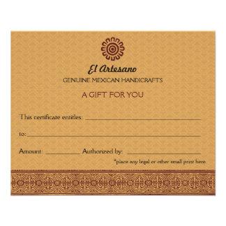 Certificado de presente cor-de-rosa do mexicano do panfletos personalizados