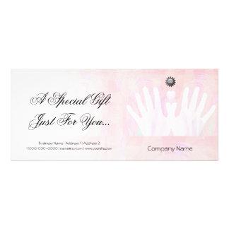 Certificado de presente cura da massagem das mãos planfeto informativo colorido