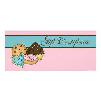 Certificado de presente da padaria do bolo 10.16 x 22.86cm panfleto