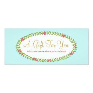 Certificado de presente de época natalícia da convite 10.16 x 23.49cm
