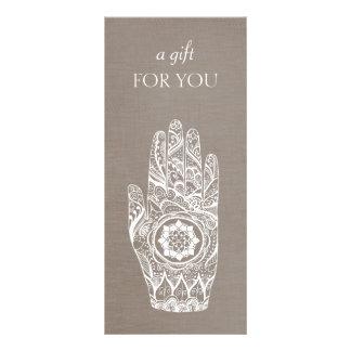 Certificado de presente de Lotus do Henna do 10.16 X 22.86cm Panfleto
