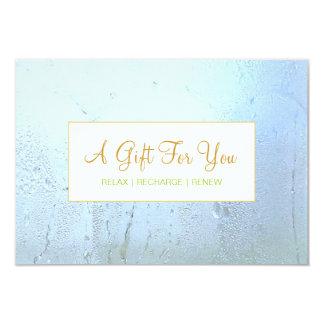Certificado de presente de vidro azul do Aqua do Convites Personalizado