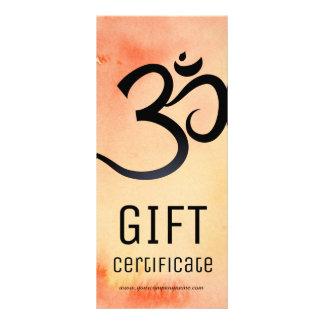 Certificado de presente do instrutor da ioga panfleto
