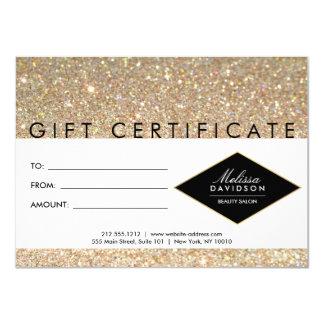 Certificado de presente do salão de beleza do convite 11.30 x 15.87cm