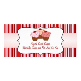 Certificado de presente doce do negócio do cupcake 10.16 x 22.86cm panfleto