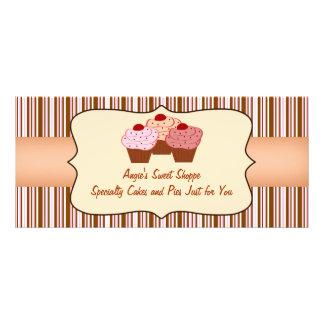 Certificado de presente doce do negócio do cupcake panfleto