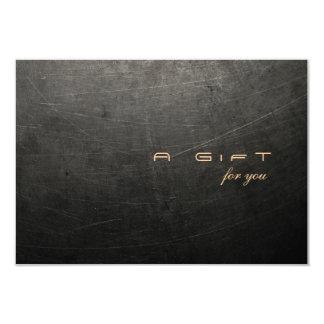 Certificado de presente dos homens simples e convite 8.89 x 12.7cm