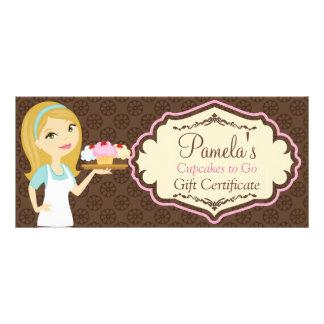Certificado de presente louro 3 do cupcake D12 do 10.16 X 22.86cm Panfleto