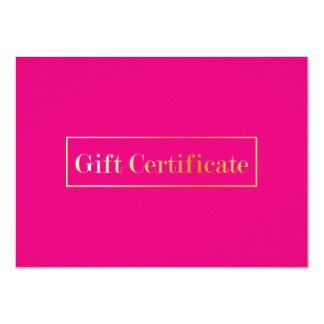 Certificado de presente moderno do salão de beleza convite 11.30 x 15.87cm