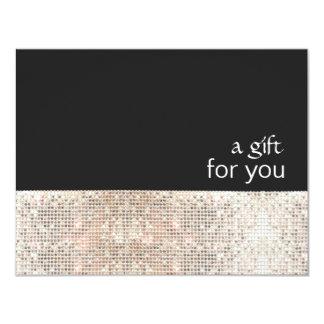 Certificado de presente preto do salão de beleza convite 10.79 x 13.97cm