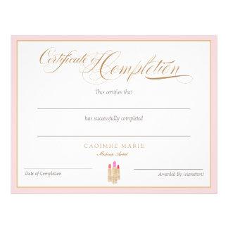 Certificado do prêmio da conclusão flyer 21.59 x 27.94cm