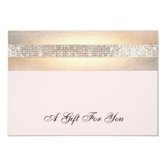 Certificado do rosa e de presente do salão de convite 8.89 x 12.7cm
