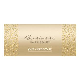 Certificados de presente luxuosos do salão de 10.16 x 22.86cm panfleto