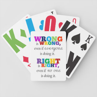 Certo & Errado Baralhos De Carta