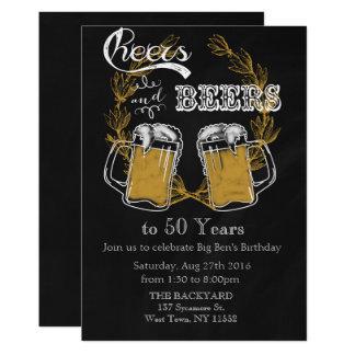 Cerveja adulta do convite do aniversário