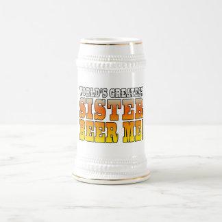 Cerveja da irmã dos mundos dos aniversários das ir caneca