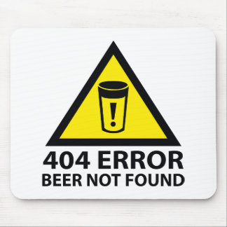 Cerveja de 404 erros não encontrada mouse pad