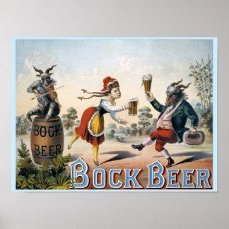 Cerveja de cerveja preta forte do vintage pôster