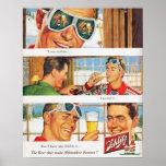Cerveja de Schlilz do esqui dos esportes de invern Poster