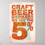 Cerveja do artesanato Bebedor-nós somos os 5% Poster