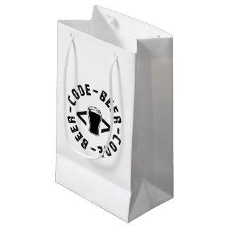 Cerveja e código sacola para presentes pequena