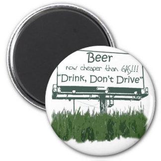Cerveja - mais barata do que o gás ímã redondo 5.08cm