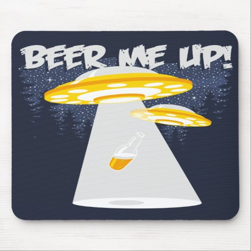 Cerveja mim acima! mouse pads