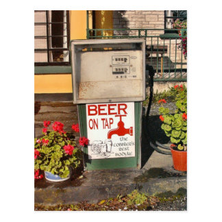 Cerveja no cartão da torneira