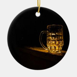 cerveja ornamento de cerâmica redondo